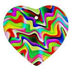 Irritation Colorful Dream Heart Ornament (2 Sides) Back
