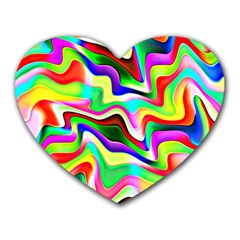 Irritation Colorful Dream Heart Mousepads
