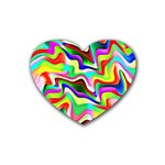 Irritation Colorful Dream Rubber Coaster (Heart)  Front