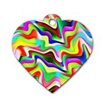 Irritation Colorful Dream Dog Tag Heart (Two Sides)