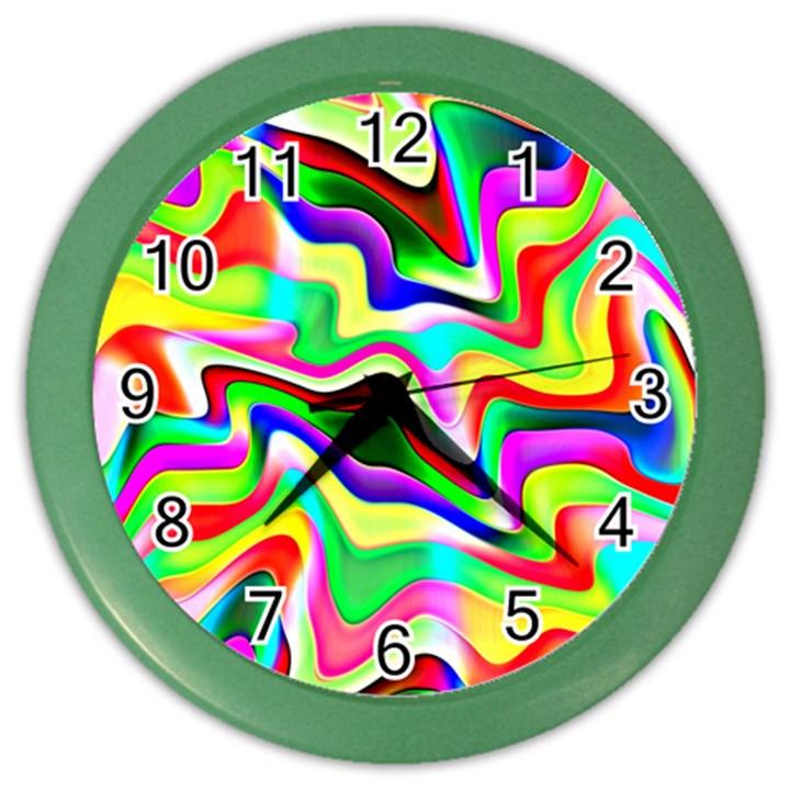 Irritation Colorful Dream Color Wall Clocks