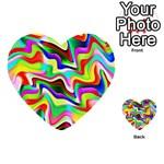 Irritation Colorful Dream Multi-purpose Cards (Heart)  Front 3