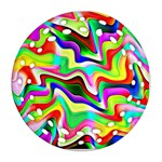 Irritation Colorful Dream Round Filigree Ornament (2Side) Front