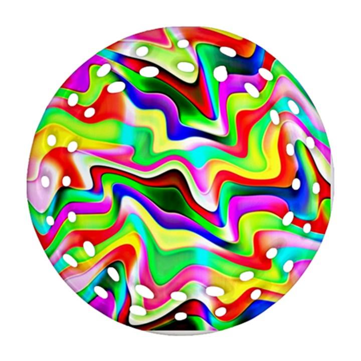 Irritation Colorful Dream Round Filigree Ornament (2Side)