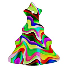 Irritation Colorful Dream Christmas Tree Ornament (2 Sides)
