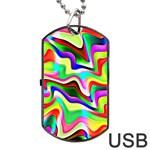 Irritation Colorful Dream Dog Tag USB Flash (Two Sides)