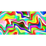 Irritation Colorful Dream Twin Hearts 3D Greeting Card (8x4) Back