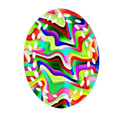 Irritation Colorful Dream Oval Filigree Ornament (2-Side)