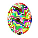 Irritation Colorful Dream Oval Filigree Ornament (2-Side)  Back