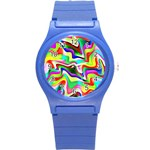 Irritation Colorful Dream Round Plastic Sport Watch (S) Front