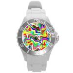 Irritation Colorful Dream Round Plastic Sport Watch (L)