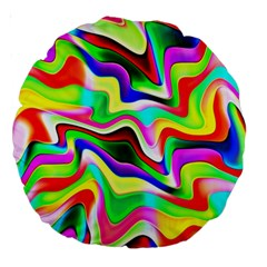 Irritation Colorful Dream Large 18  Premium Round Cushions