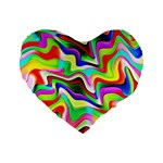 Irritation Colorful Dream Standard 16  Premium Heart Shape Cushions