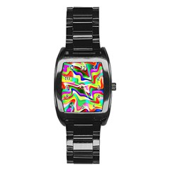 Irritation Colorful Dream Stainless Steel Barrel Watch