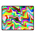 Irritation Colorful Dream Double Sided Fleece Blanket (Small)  45 x34 Blanket Back