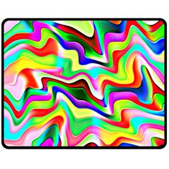 Irritation Colorful Dream Double Sided Fleece Blanket (medium)  by designworld65