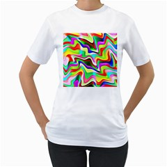 Irritation Colorful Dream Women s T-Shirt (White)