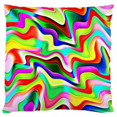 Irritation Colorful Dream Large Flano Cushion Case (Two Sides)