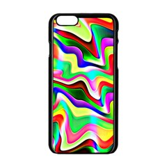 Irritation Colorful Dream Apple iPhone 6/6S Black Enamel Case