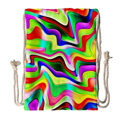 Irritation Colorful Dream Drawstring Bag (Large)