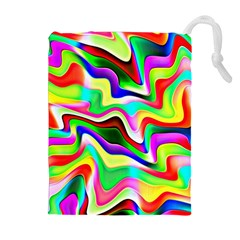Irritation Colorful Dream Drawstring Pouches (Extra Large)
