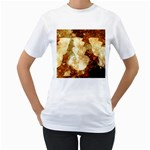 Sparkling Lights Women s T-Shirt (White) (Two Sided) Front
