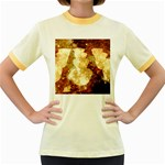 Sparkling Lights Women s Fitted Ringer T-Shirts