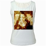Sparkling Lights Women s White Tank Top