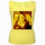 Sparkling Lights Women s Yellow Tank Top Front