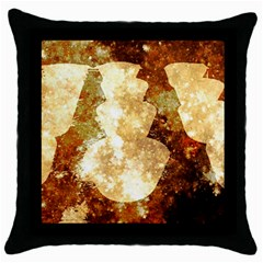 Sparkling Lights Throw Pillow Case (black) by yoursparklingshop