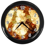 Sparkling Lights Wall Clocks (Black) Front