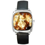 Sparkling Lights Square Metal Watch