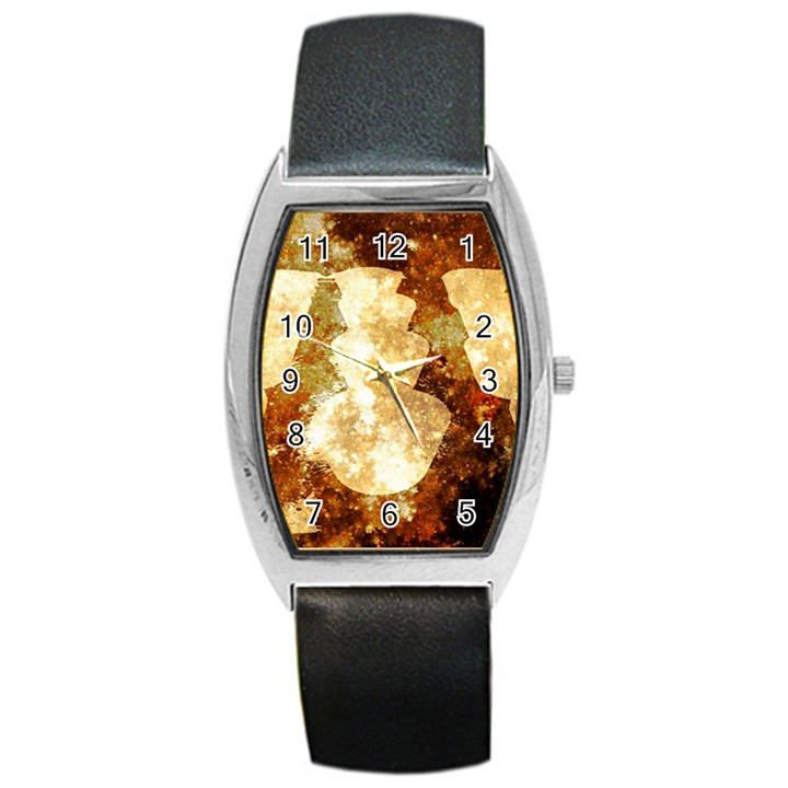 Sparkling Lights Barrel Style Metal Watch
