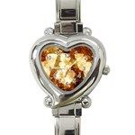 Sparkling Lights Heart Italian Charm Watch
