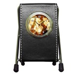 Sparkling Lights Pen Holder Desk Clocks