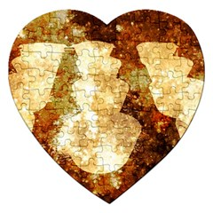 Sparkling Lights Jigsaw Puzzle (heart) by yoursparklingshop