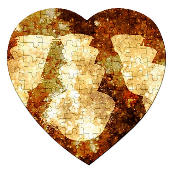 Sparkling Lights Jigsaw Puzzle (Heart)
