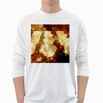 Sparkling Lights White Long Sleeve T-Shirts