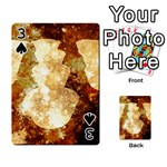 Sparkling Lights Playing Cards 54 Designs  Front - Spade3