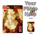 Sparkling Lights Playing Cards 54 Designs  Front - Heart10