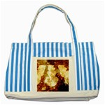 Sparkling Lights Striped Blue Tote Bag