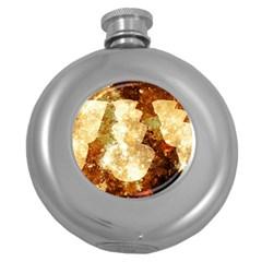 Sparkling Lights Round Hip Flask (5 oz)