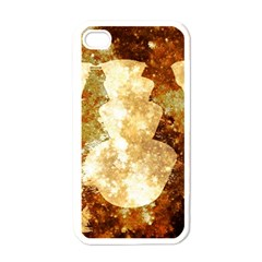 Sparkling Lights Apple Iphone 4 Case (white) by yoursparklingshop