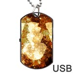 Sparkling Lights Dog Tag USB Flash (One Side)