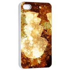 Sparkling Lights Apple Iphone 4/4s Seamless Case (white) by yoursparklingshop
