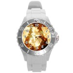 Sparkling Lights Round Plastic Sport Watch (L)