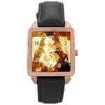 Sparkling Lights Rose Gold Leather Watch
