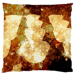 Sparkling Lights Large Flano Cushion Case (two Sides) by yoursparklingshop