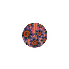 Colorful Floral Dream 1  Mini Buttons by DanaeStudio