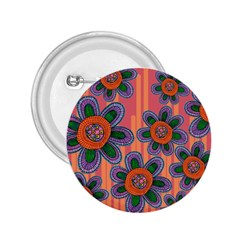 Colorful Floral Dream 2.25  Buttons
